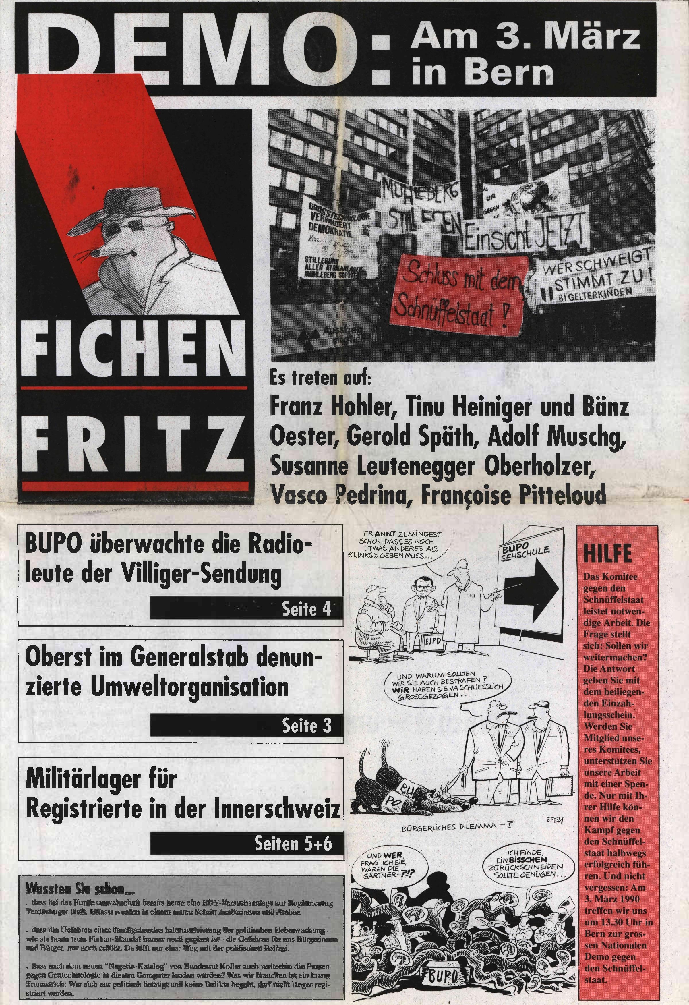 Fichen Fritz Nr. 1 – Seite 1