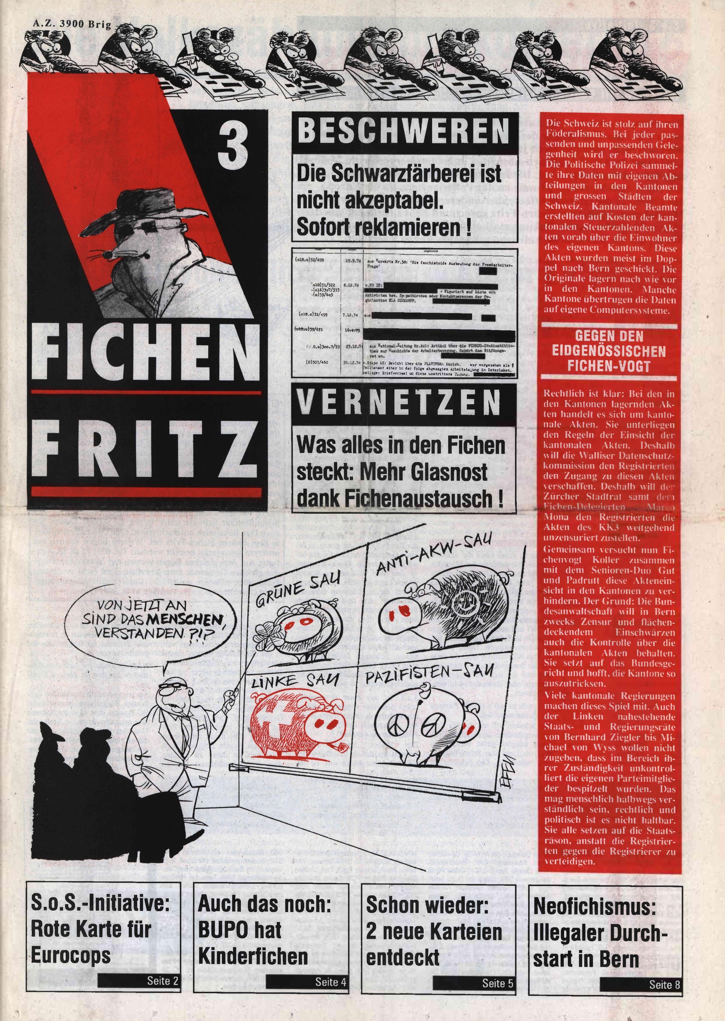 FICHEN FRITZ NR. 3 - SEITE 1