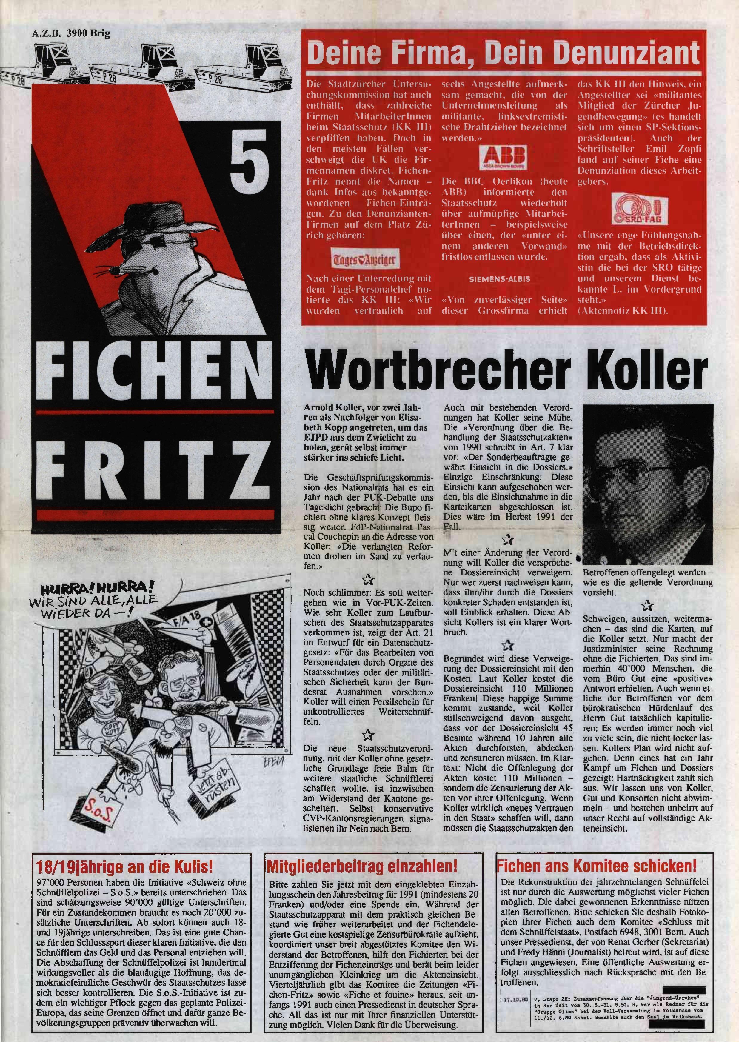 FICHEN FRITZ NR. 5 - SEITE 1