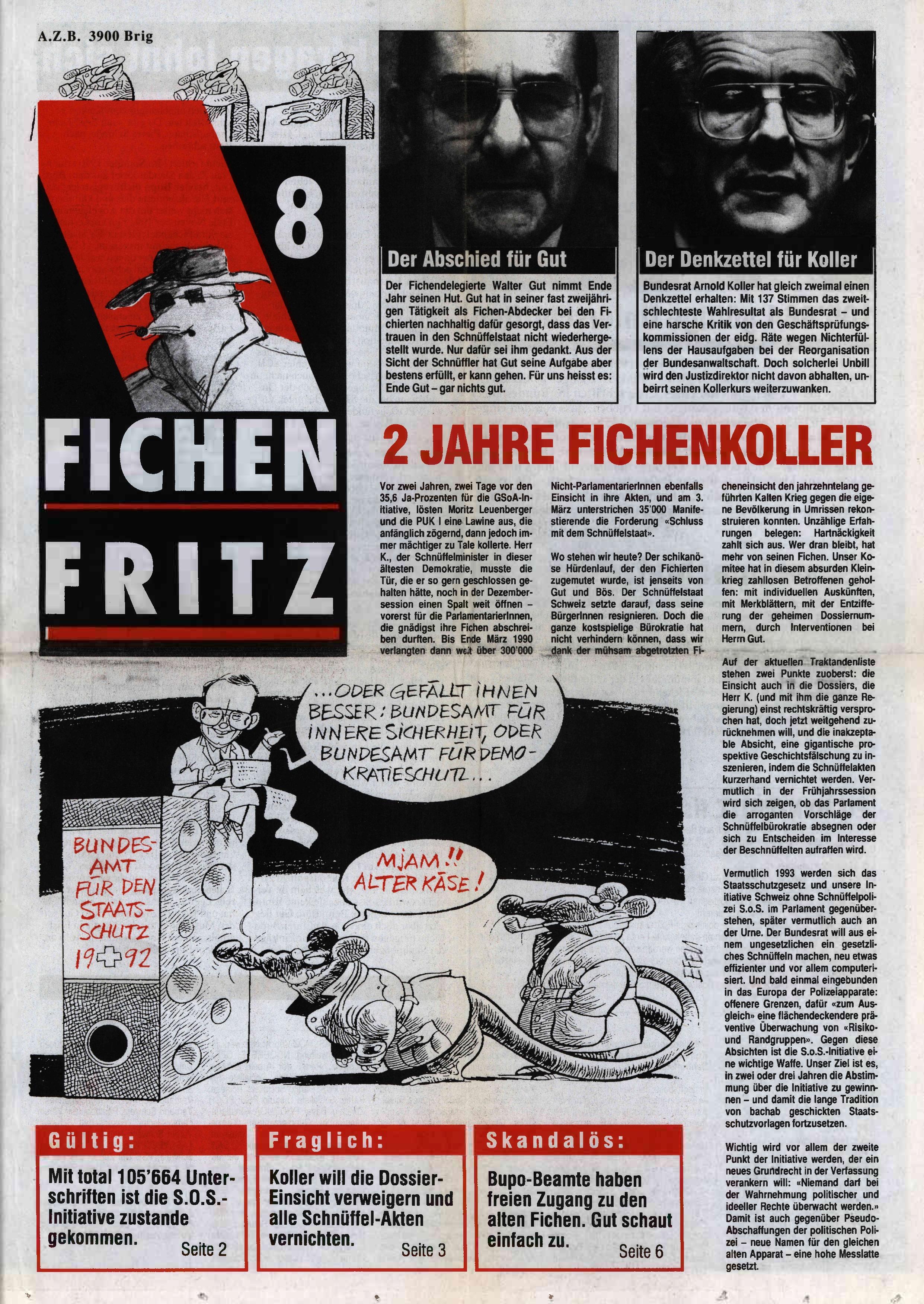 FICHEN FRITZ NR. 8 - SEIETE 1