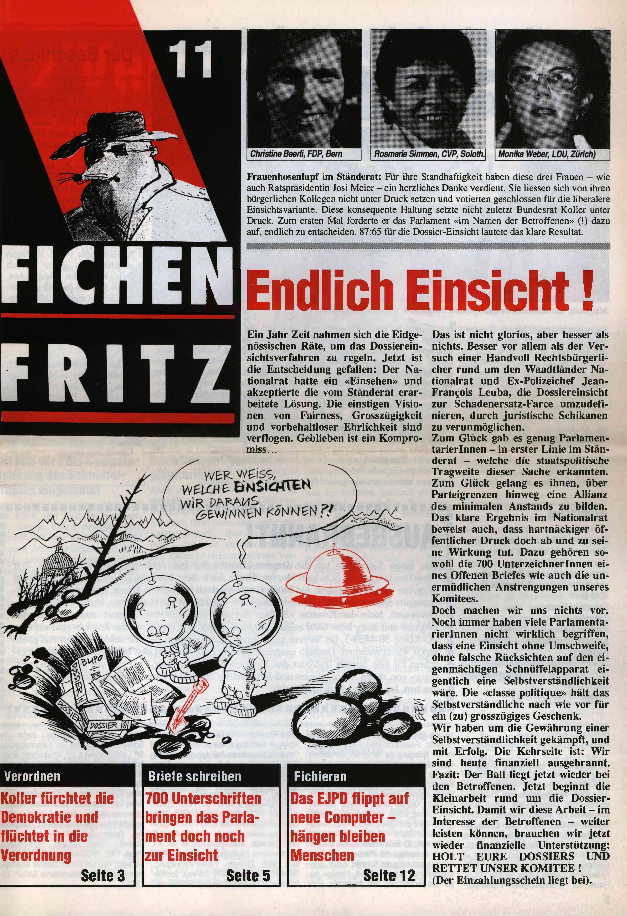 FICHEN FRITZ NR. 11 - SEITE 1
