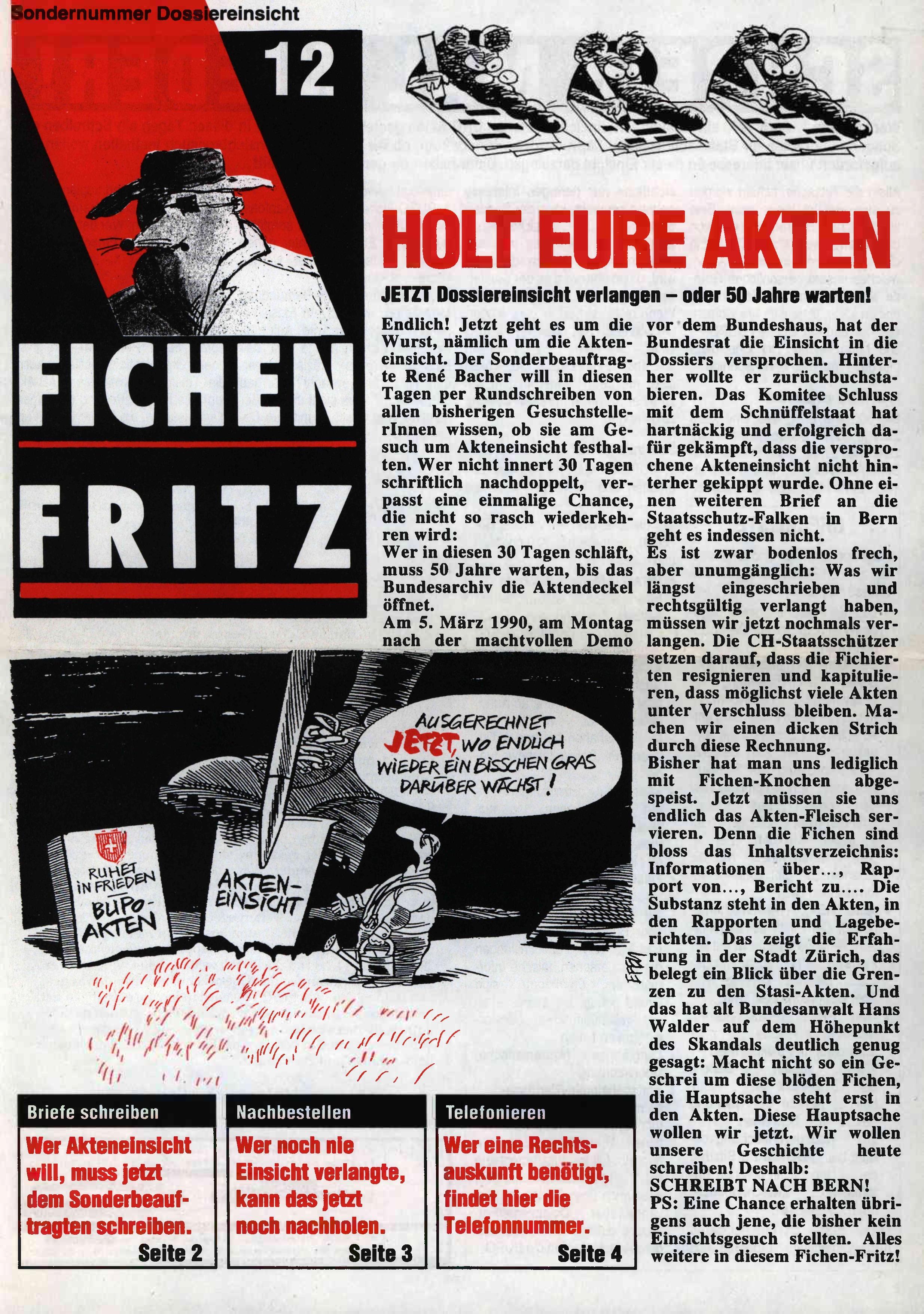 FICHEN FRITZ NR. 12 - SEITE 1