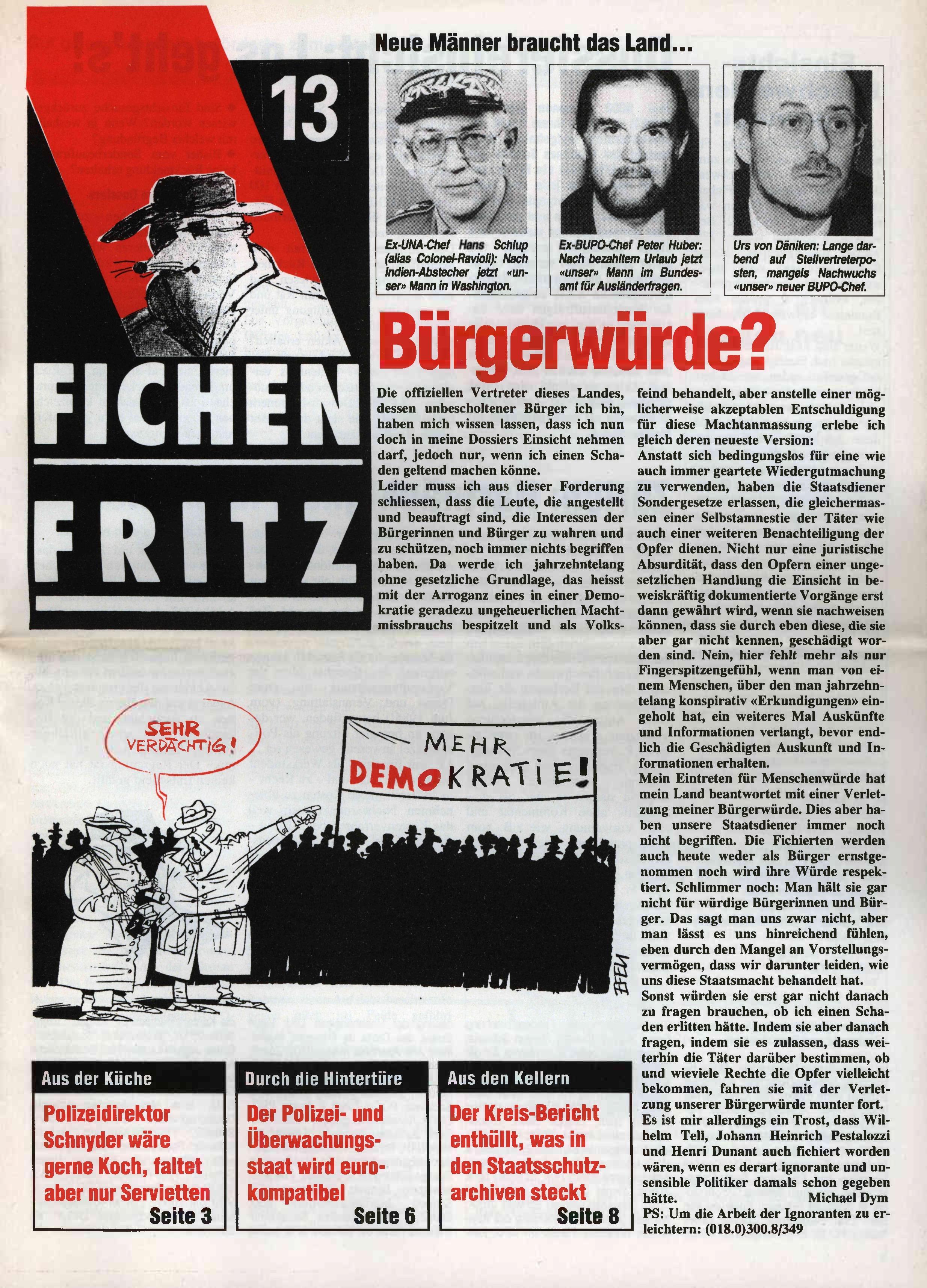 FICHEN FRITZ NR. 13 - SEITE 1