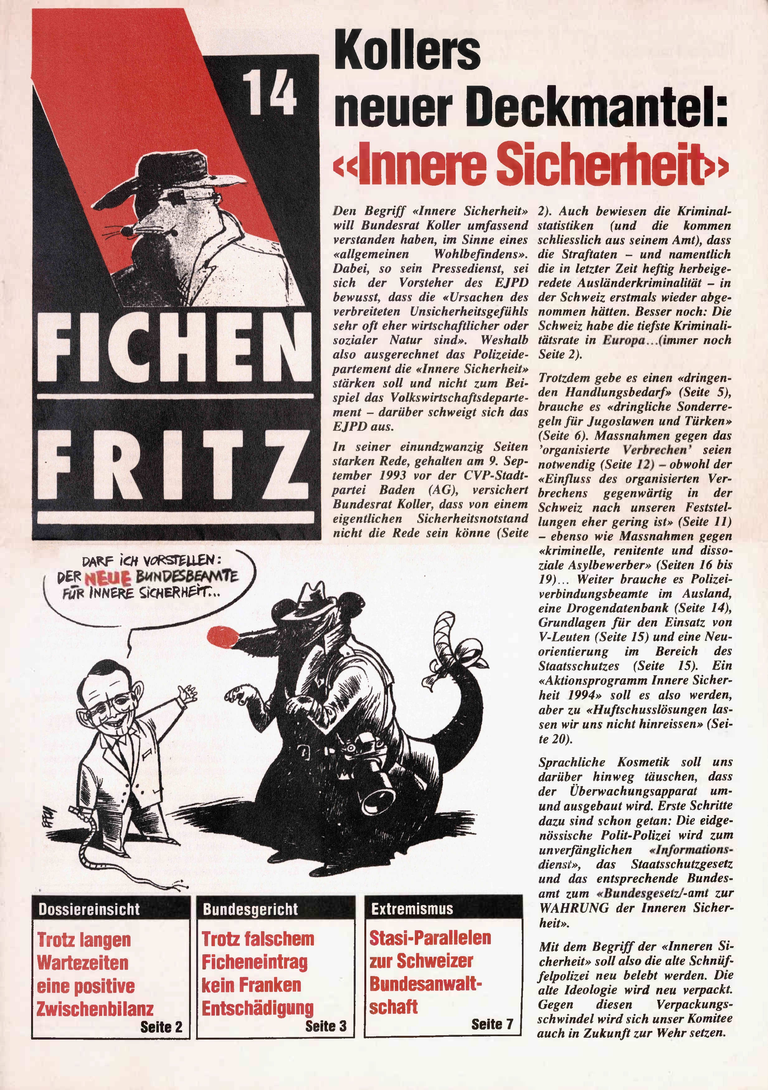 FICHEN FRITZ NR. 14 - SEITE 1