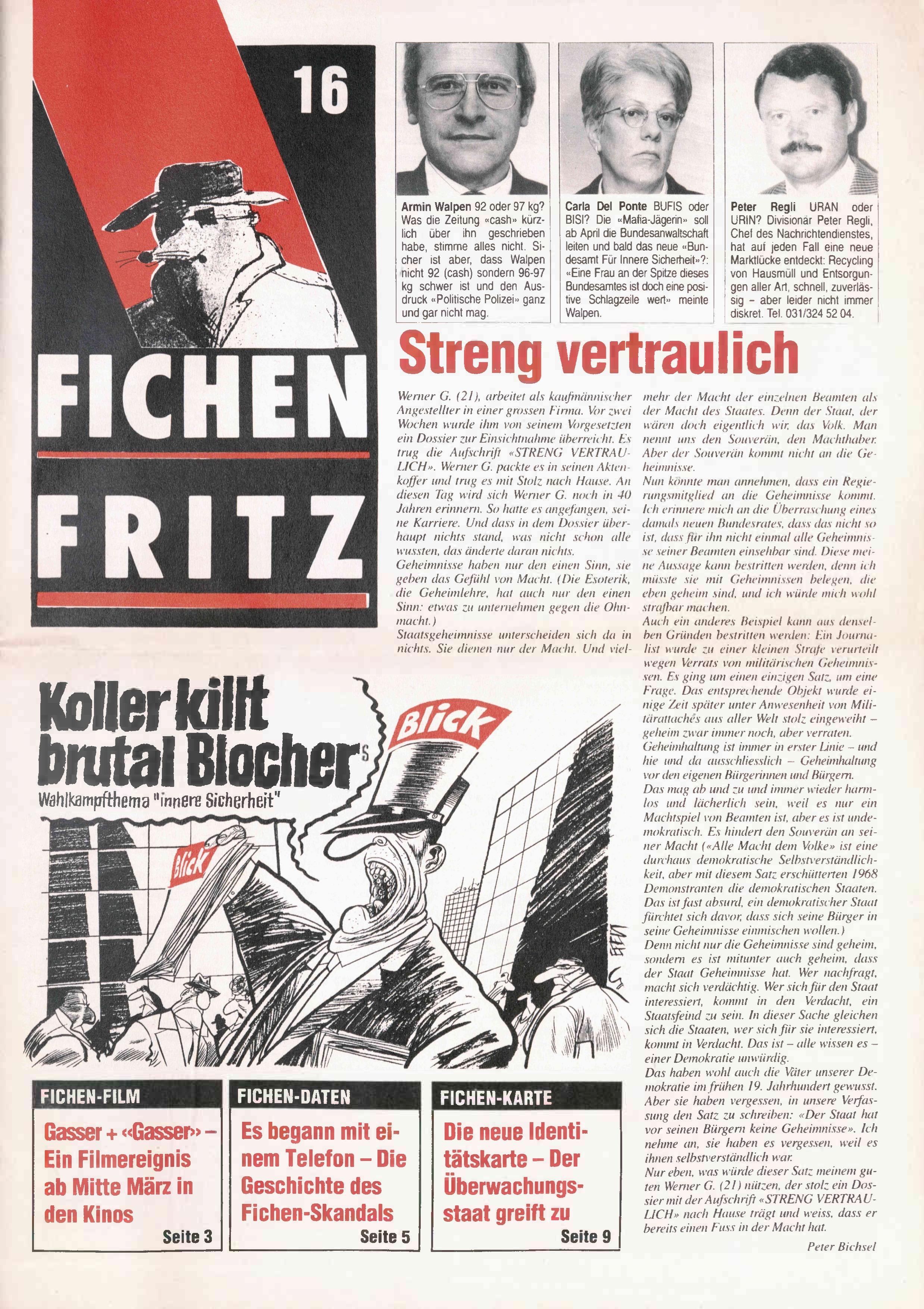 FICHEN FRITZ NR. 16 - SEITE 1