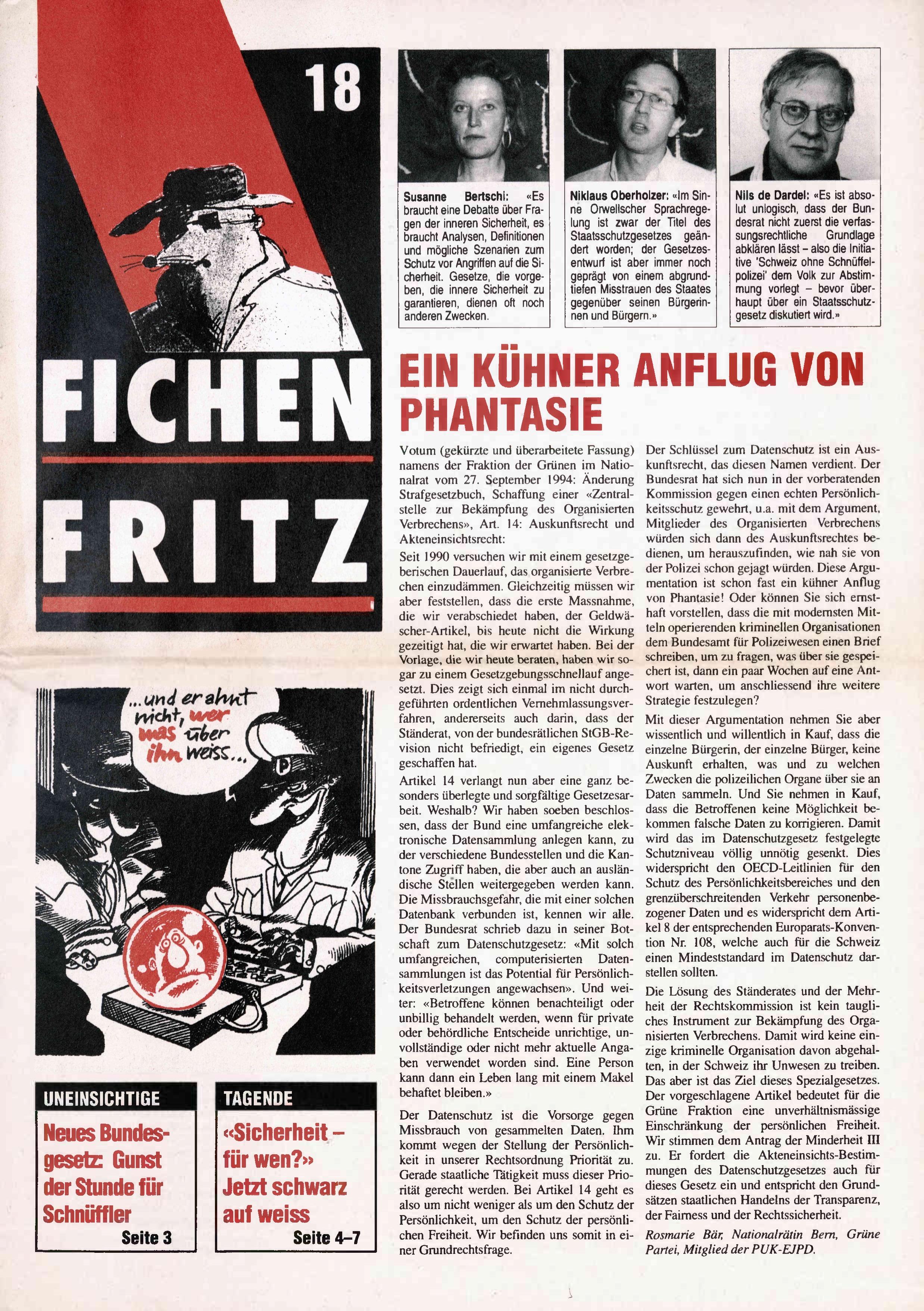 FICHEN FRITZ NR. 18 - SEITE 1