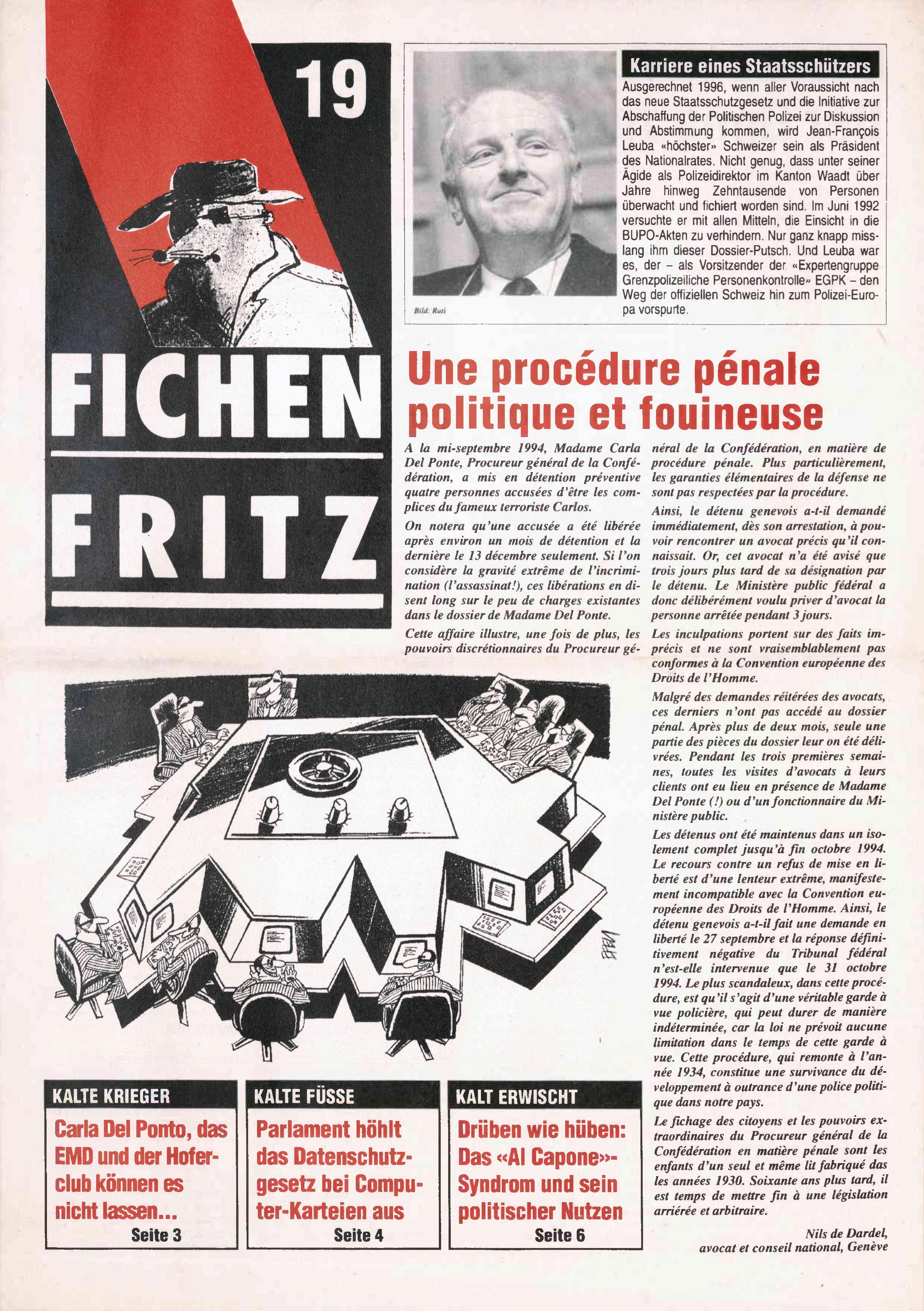 FICHEN FRITZ NR. 19 - SEITE 1