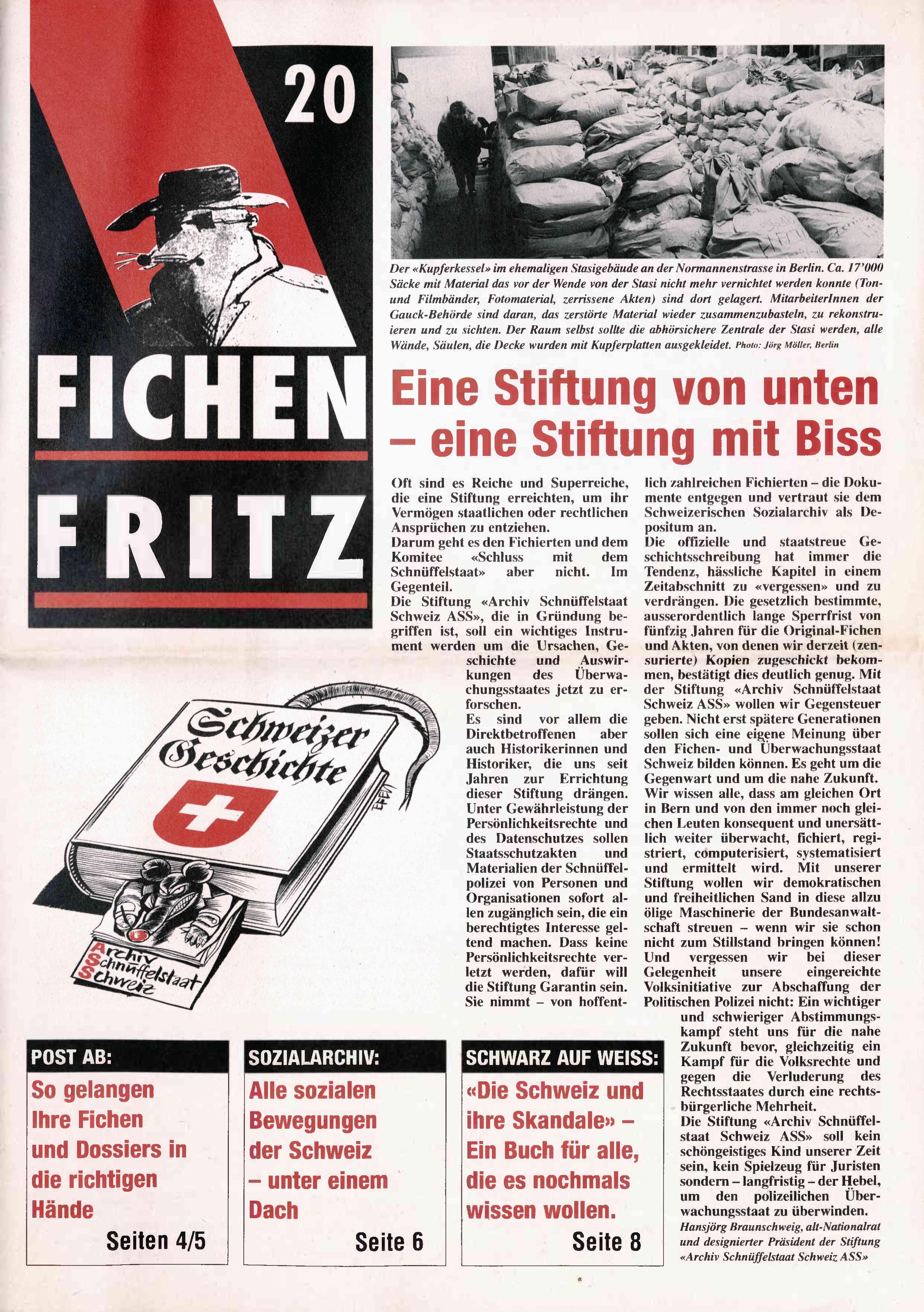 FICHEN FRITZ NR. 20 - SEITE 1
