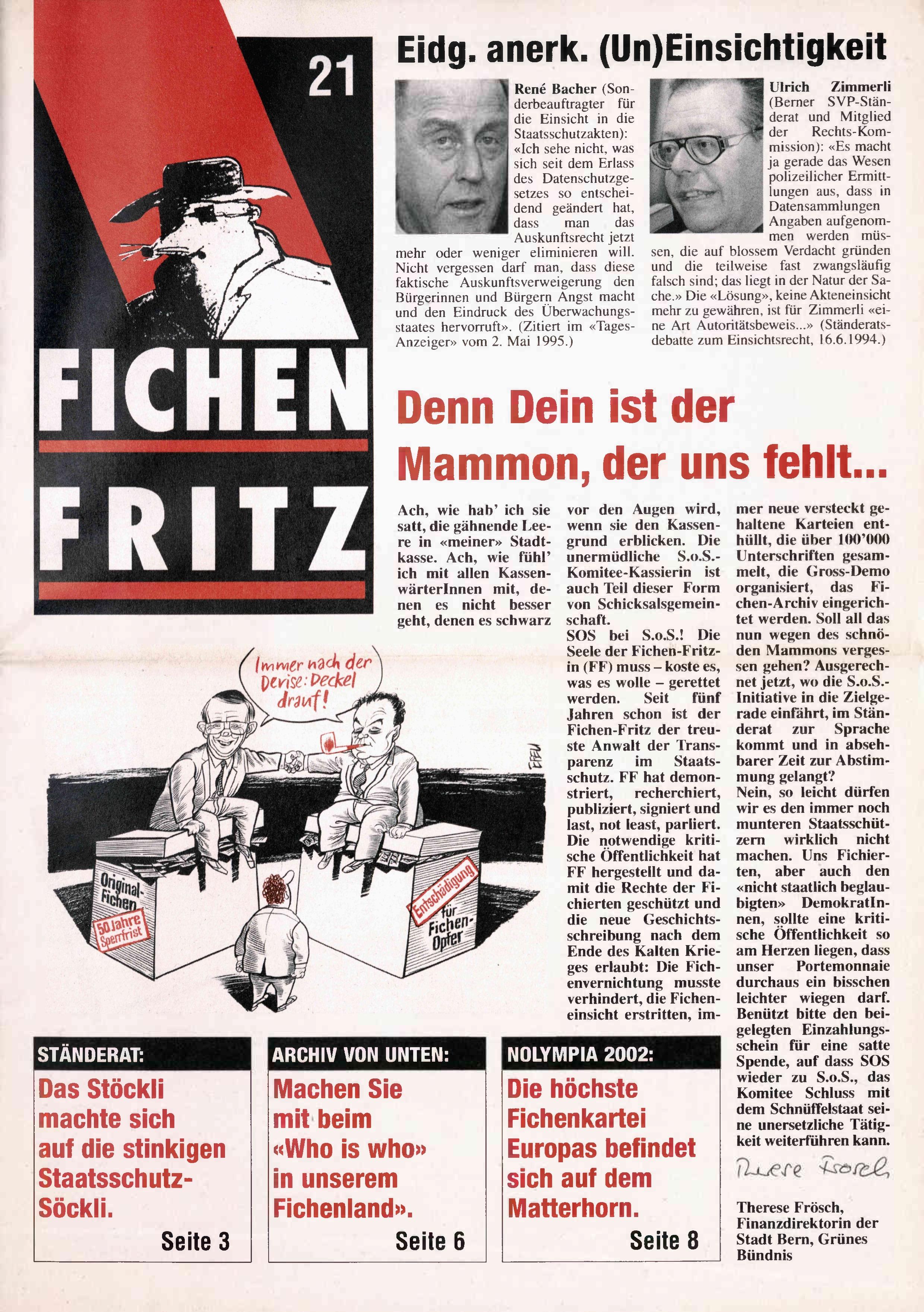 F1ICHEN FRITZ NR. 21 - SEITE 1
