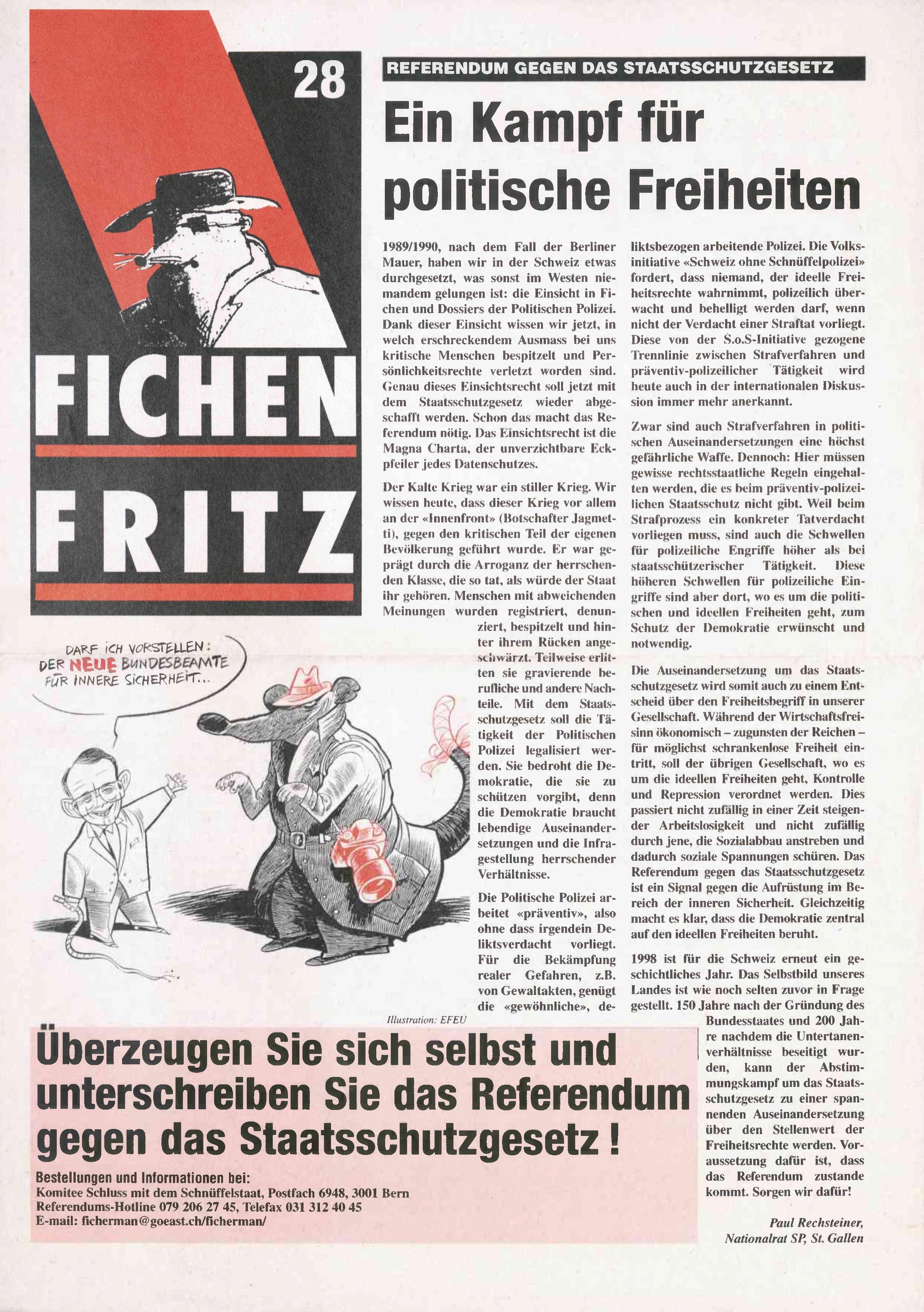 FICHEN FRITZ NR. 28 - SEITE 1