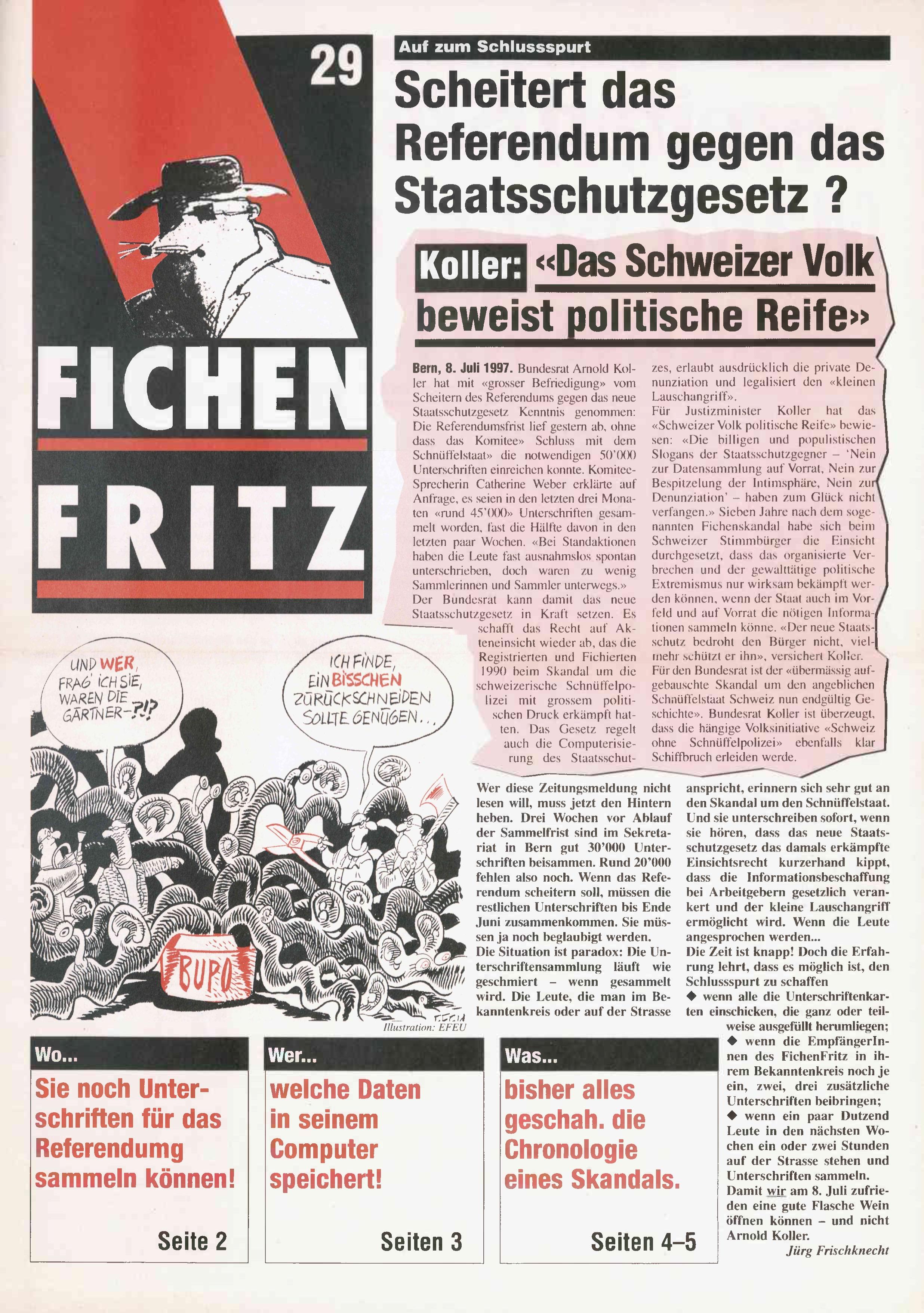 FICHEN FRITZ NR. 29 - SEITE 1