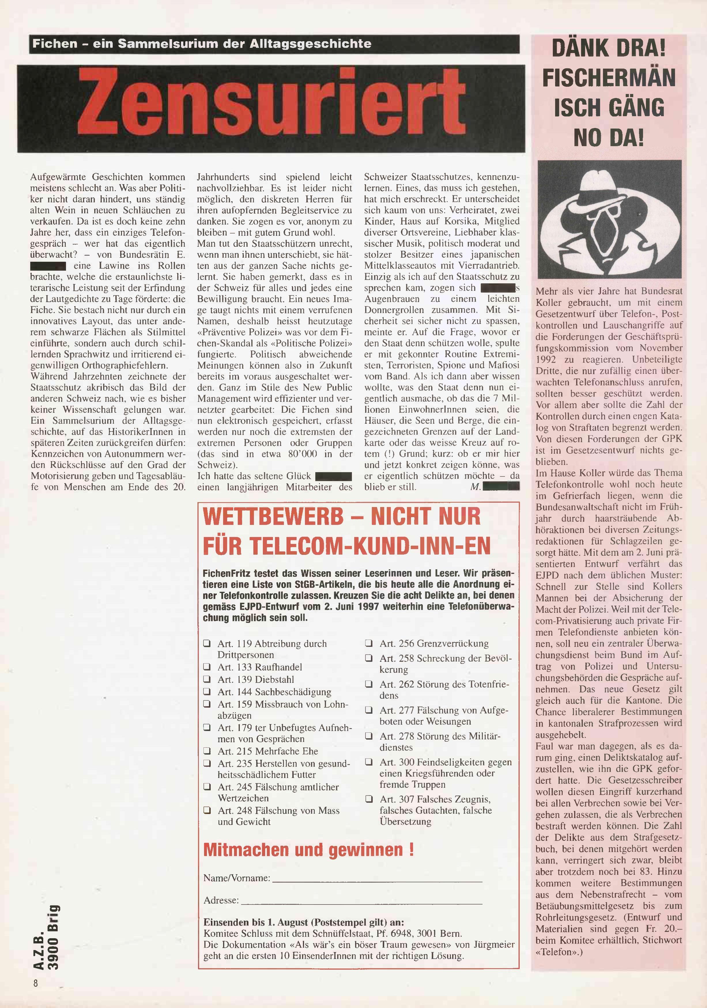FICHEN FRITZ NR. 29 - SEITE 8