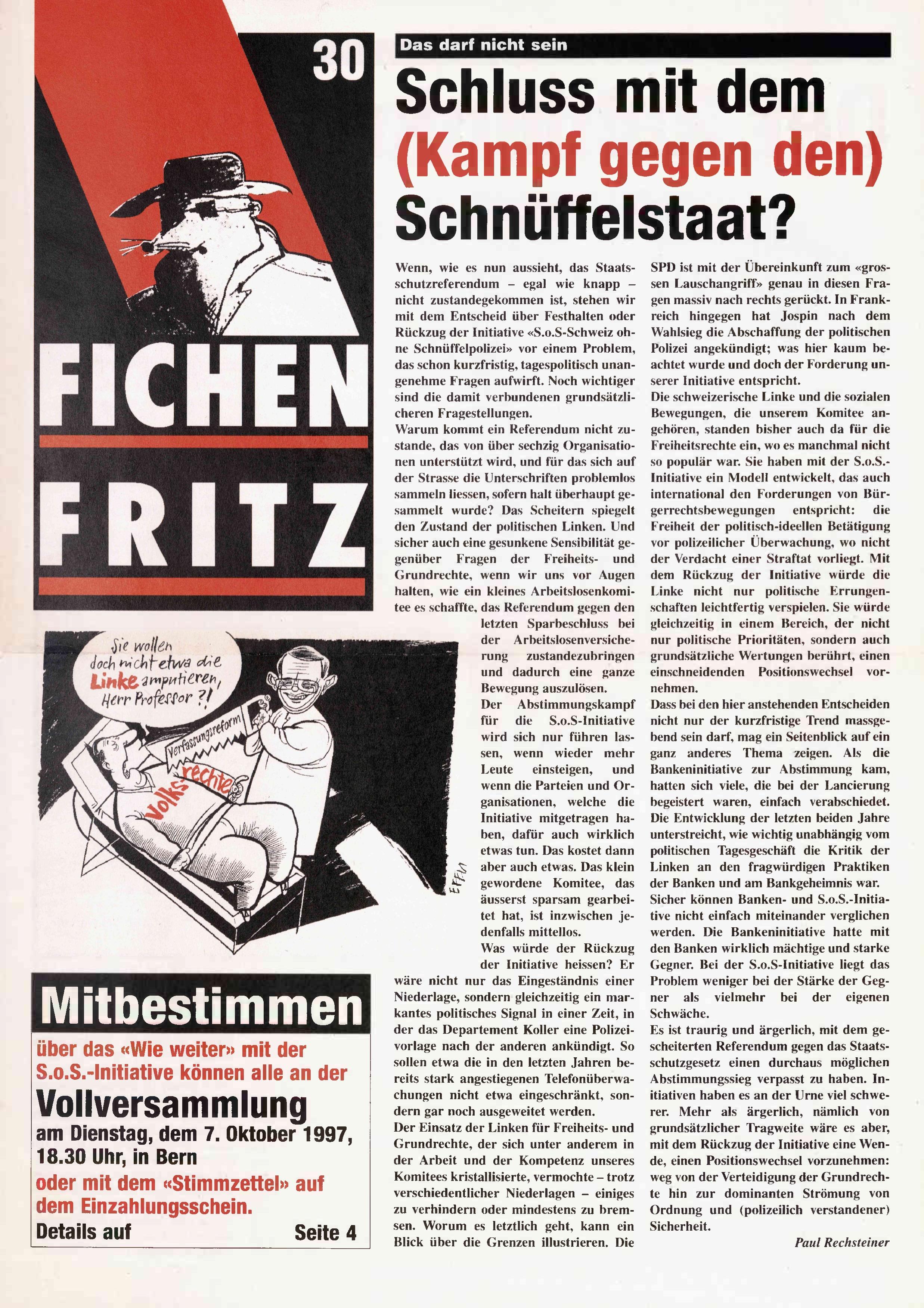 FICHEN FRITZ NR. 30 - SEITE 1