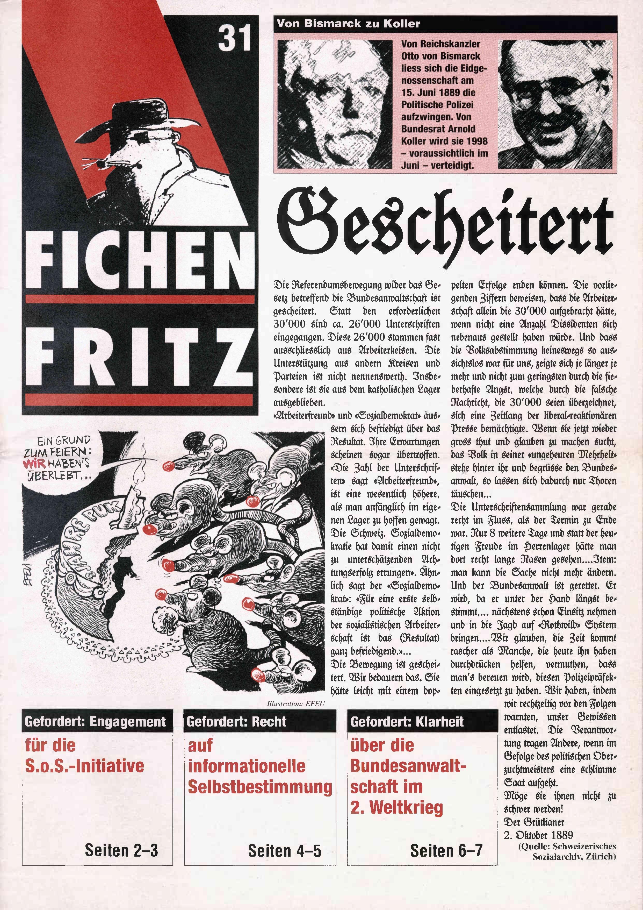 FICHEN FRITZ NR. 31 - SEITE 1