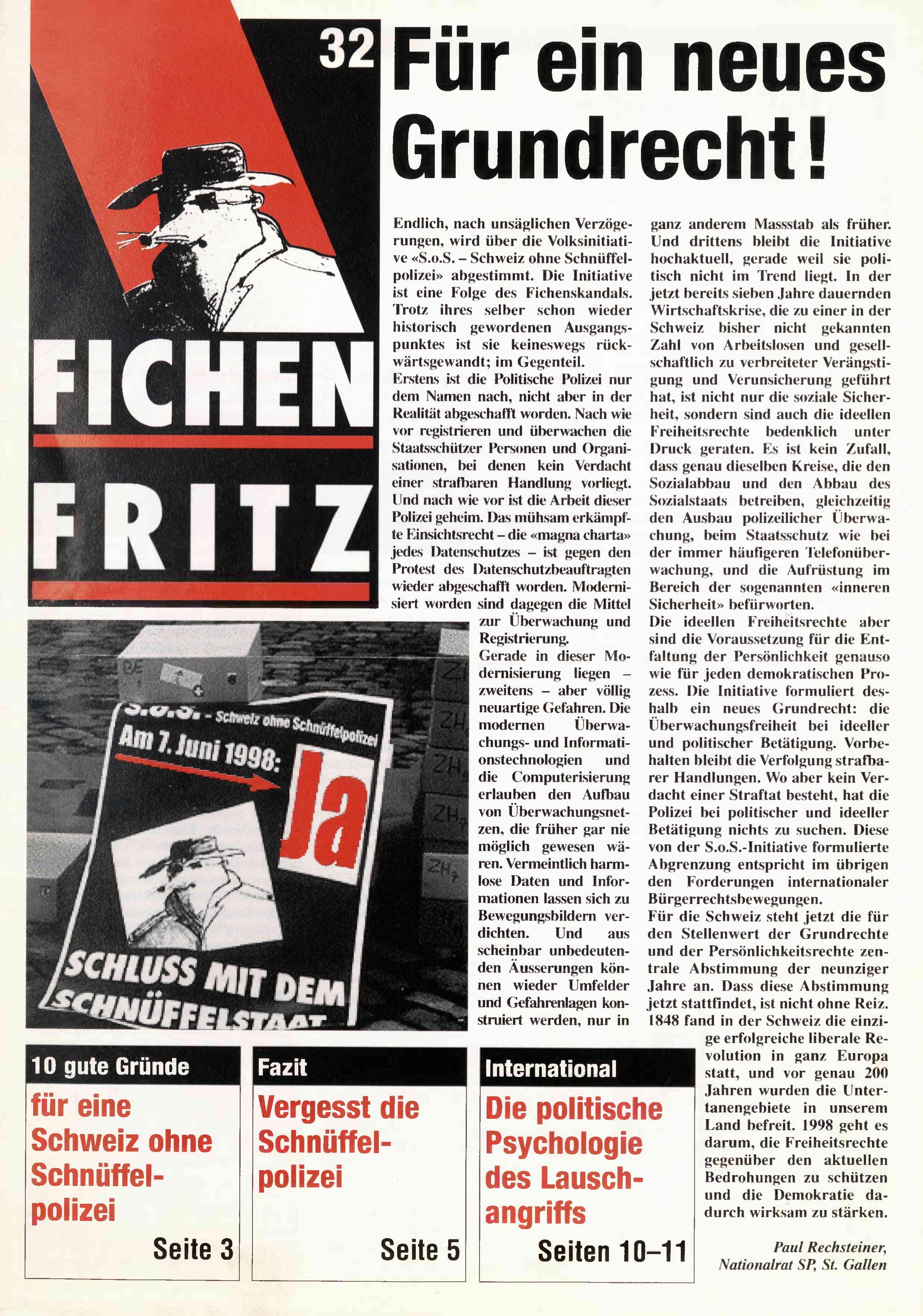 FICHEN FRITZ NR. 32 - SEITE 1