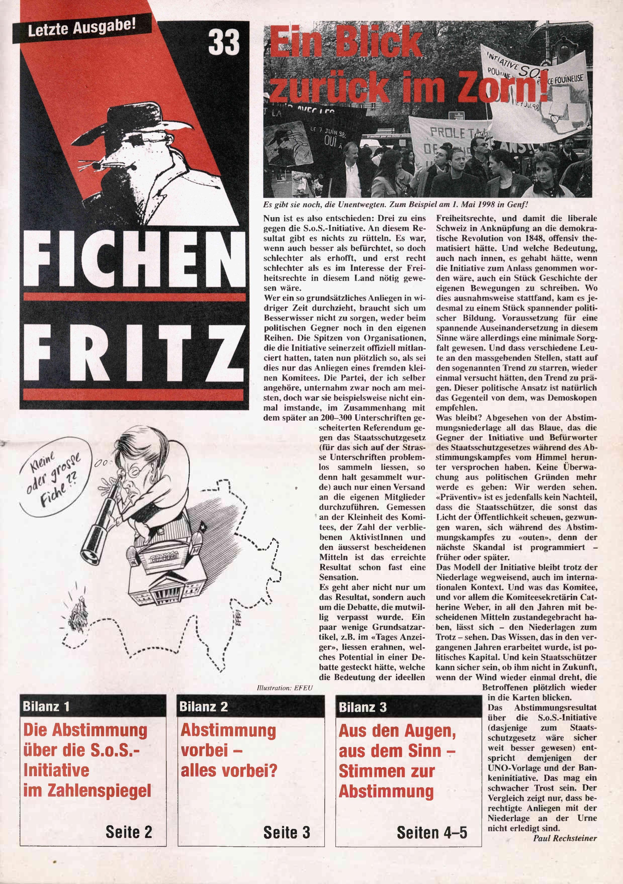 FICHEN FRITZ NR. 33 - SEITE 1